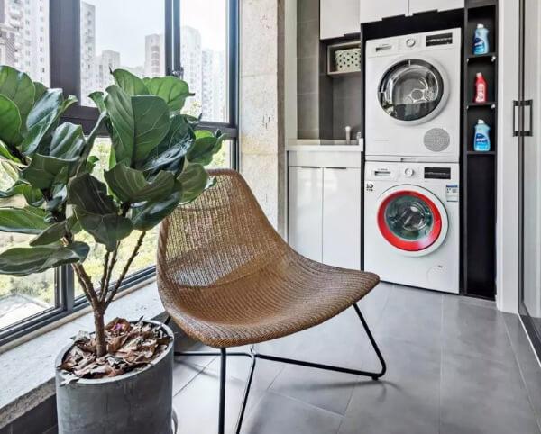 Thiết kế phòng giặt quần áo tiện ích và gọn gàng
